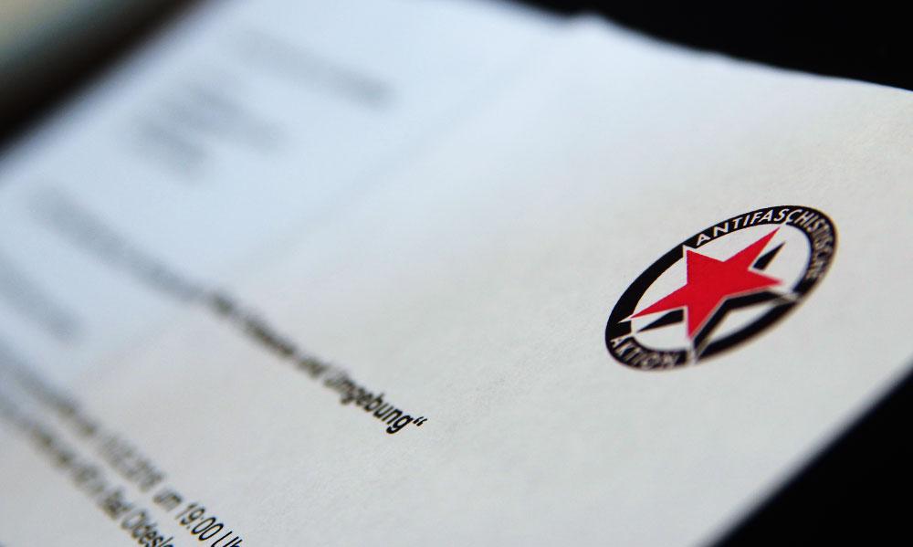 Der Offene Brief der Antifa an den Restaurantbetreiber und die AfD-Freunde. Foto:Fischer