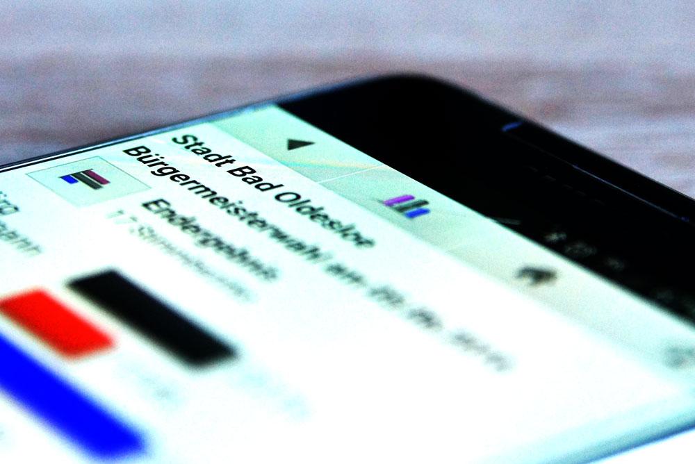 """Mit der App """"Wahllokal"""" lässt sich auch die Bürgermeisterwahl verfolgen. Foto: Stormarnlive.de"""