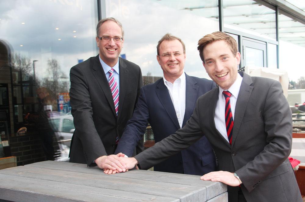 Tobias Koch MdL, Claus Christian Claussen und Lukas Kilian. Foto: CDU/hfr