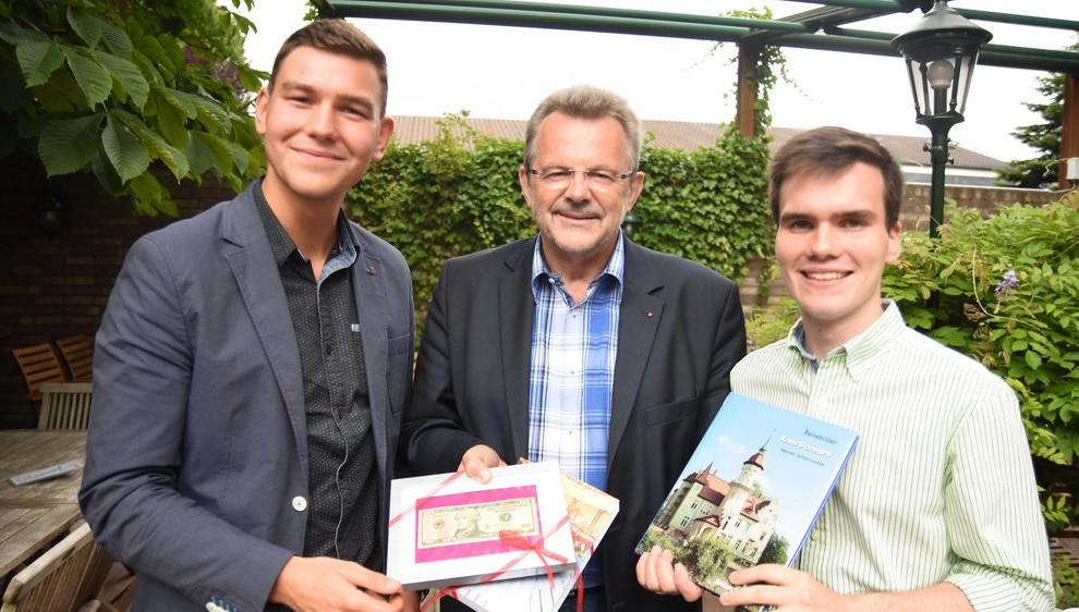Marvin Meincke, Franz Thönnes und John Dudley. Foto: Stormarnlive.de