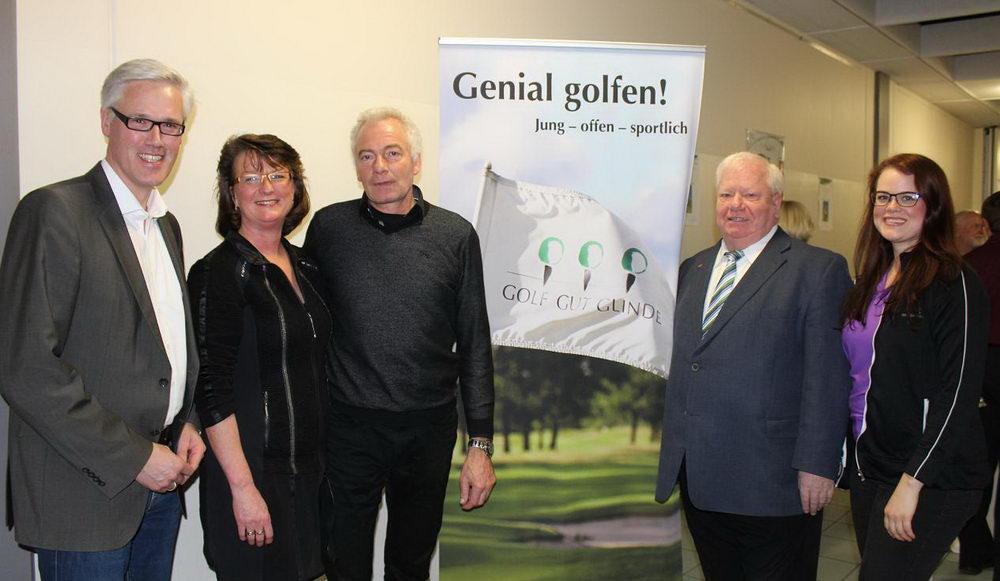 Glindes Bürgermeister Zug, Frau und Herr Lessau, Bürgervirsteker Budde, Carolin Lessau (Tochter)