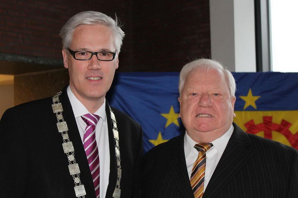 Bürgermeister Rainhard Zug und Bürgervorsteher Rolf Budde hatten zum Neujahrsempfang ins Glinder Bürgerhaus geladen.Foto: Stadt Glinde/Kriegs-Schmidt