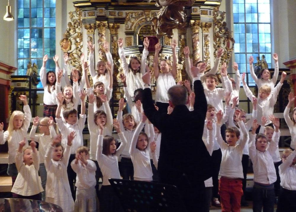 Der Kinderchor der Schloßkirche. Foto: hfr