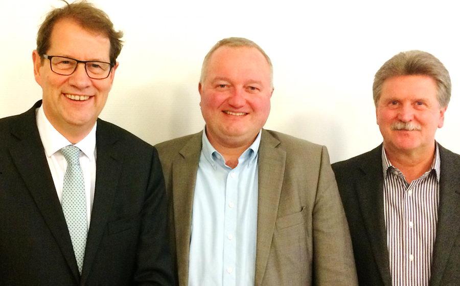 MdB Gero Storjohann, Landrat Dr. Henning Görtz, Günter Fischer, Fachdienstleiter Verkehr. Foto: CDU Stormarn/hfr