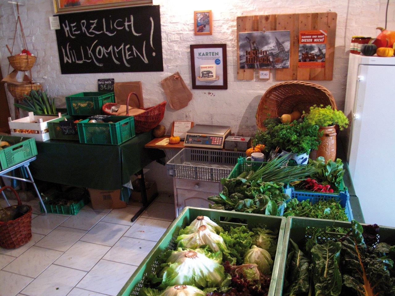Depot einer solidarischen Landwirtschaft.  Foto: Bella Donna Haus/Hfr