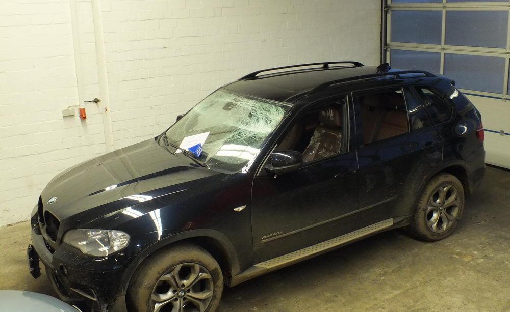 Das gestohlene Täterfahrzeug. Foto: Polizei Segeberg/Hfr