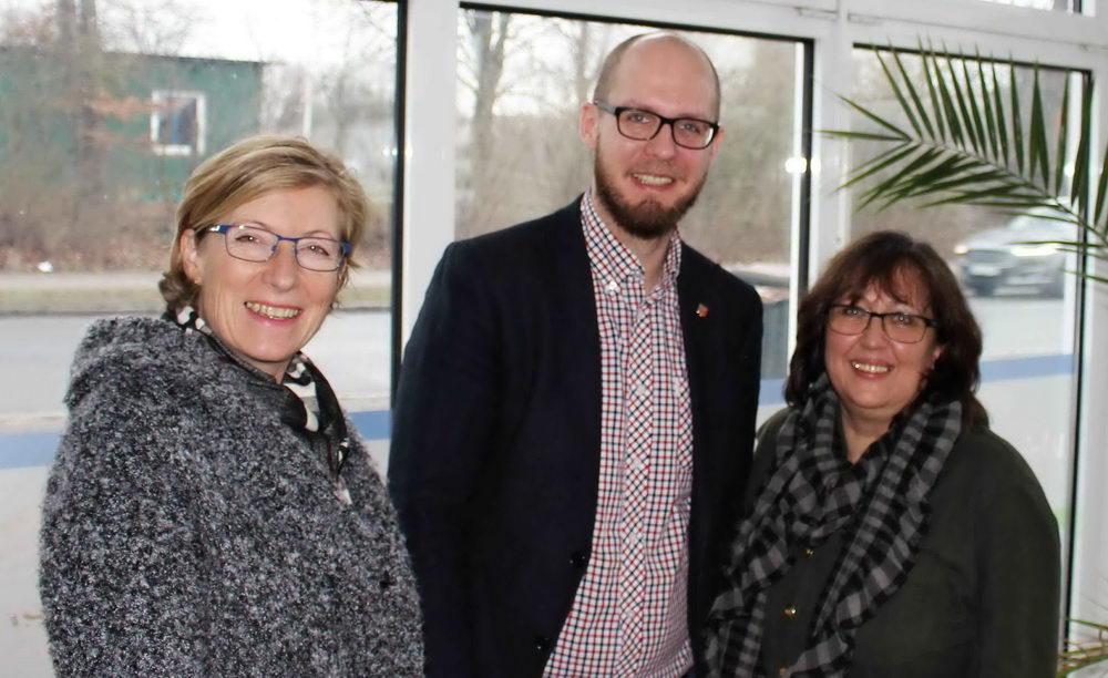 Gabriele Petersen (v.l), Tobias von Pein, Helgrid Sassner. Foto: SPD/hfr