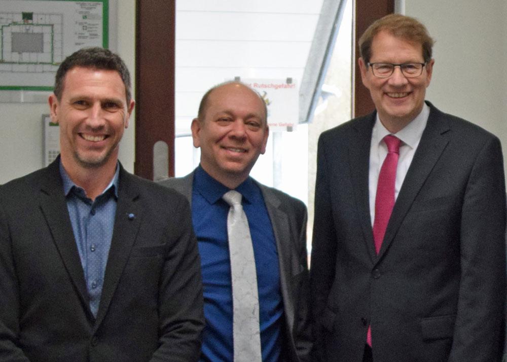 Christoph Kern, Dirk Dingfelder und Gero Storjohann MdB. Foto: hfr