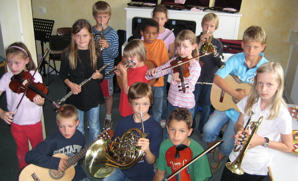 Teilnehmer des Instrumentenkarussells.  Foto: Musikschule Bad Oldesloe/hfr
