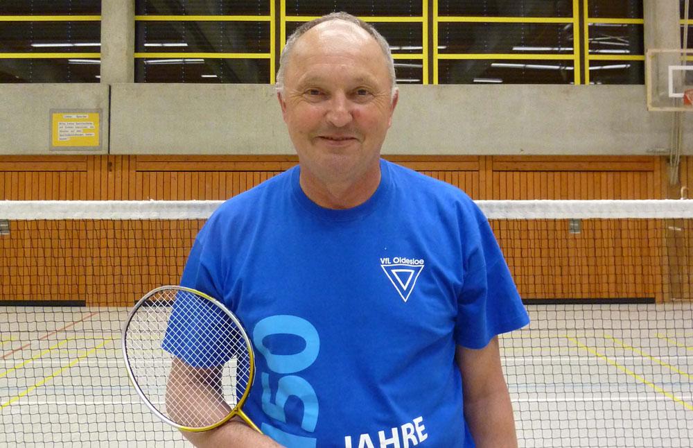 Jens Biehler, Abteilungsleiter vom VfL Oldesloe-Badminton. Foto: hfr