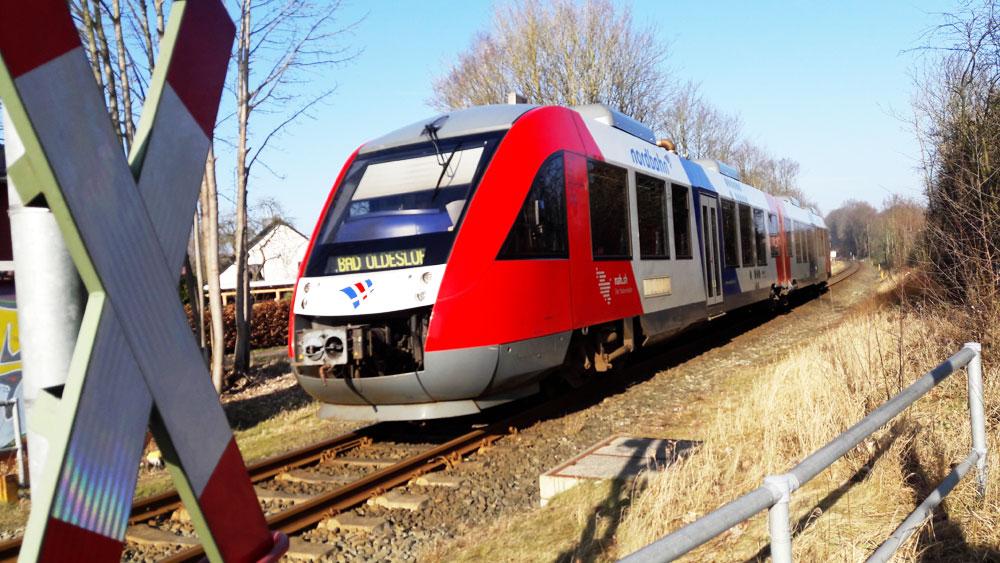 Am Steinfelder Redder könnte bald eine Bahn-Haltestelle eingerichtet werden. Foto: Fischer