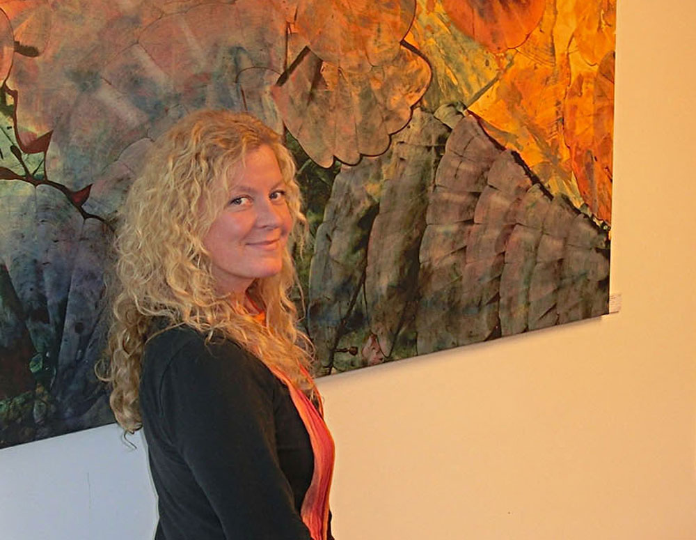 Die Künstlerin Annette Dyba . Foto: hfr