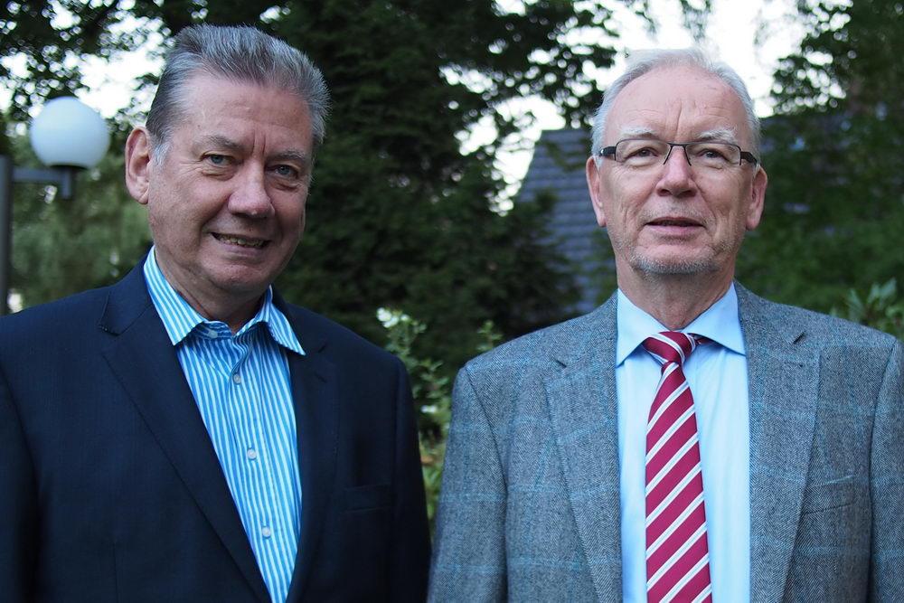 """Laden zur Mitgliederversammlung: Bendfeldt (l.) und Kube. Foro: """"Mehr Sicherheit in Großhansdorf""""/hfr"""