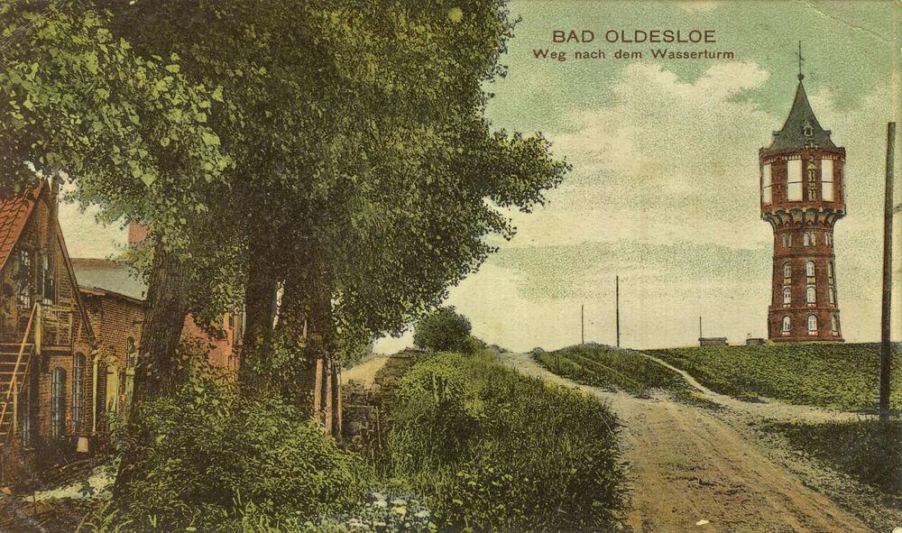 Weg zum Wasserturm, 1909 Foto: Kreisarchiv Bad Oldesloe/hfr