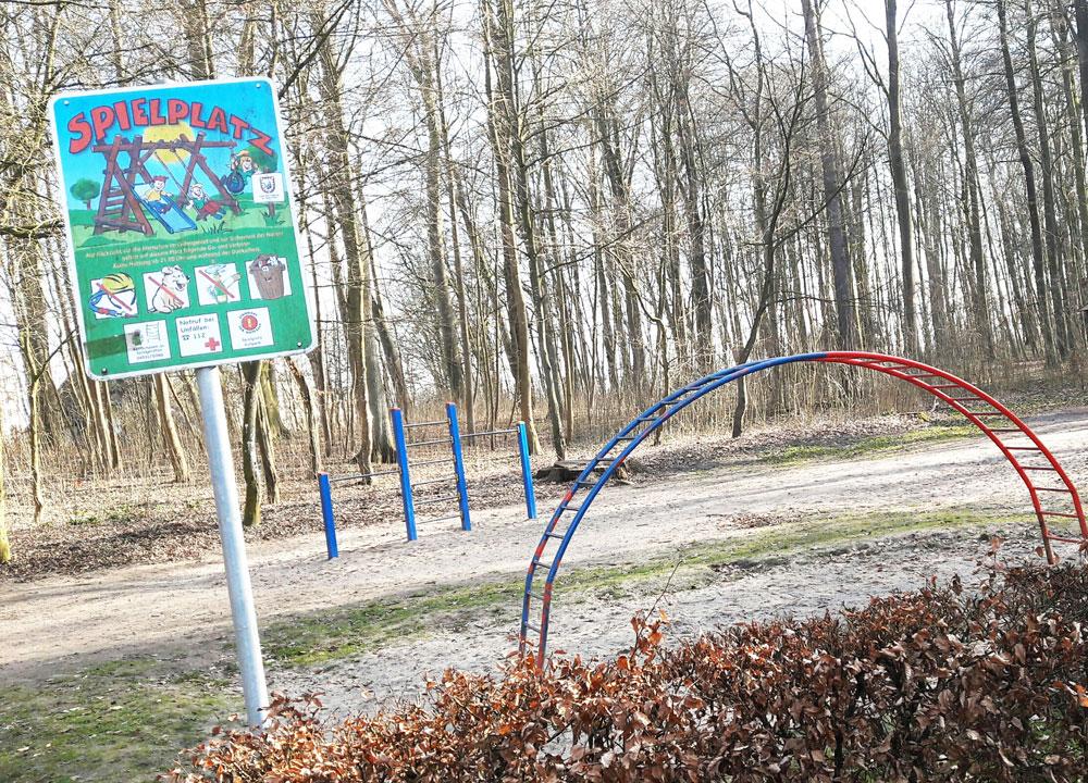 Der Spielplatz im Kurpark. Foto: Fischer