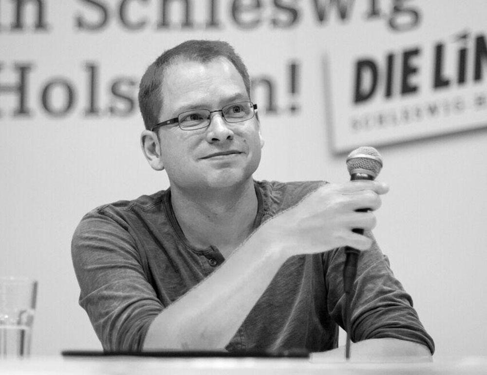 Lorenz Gösta Beutin (Die Linke). Foto: Peter Werner / Kieler Arbeiterfotografen